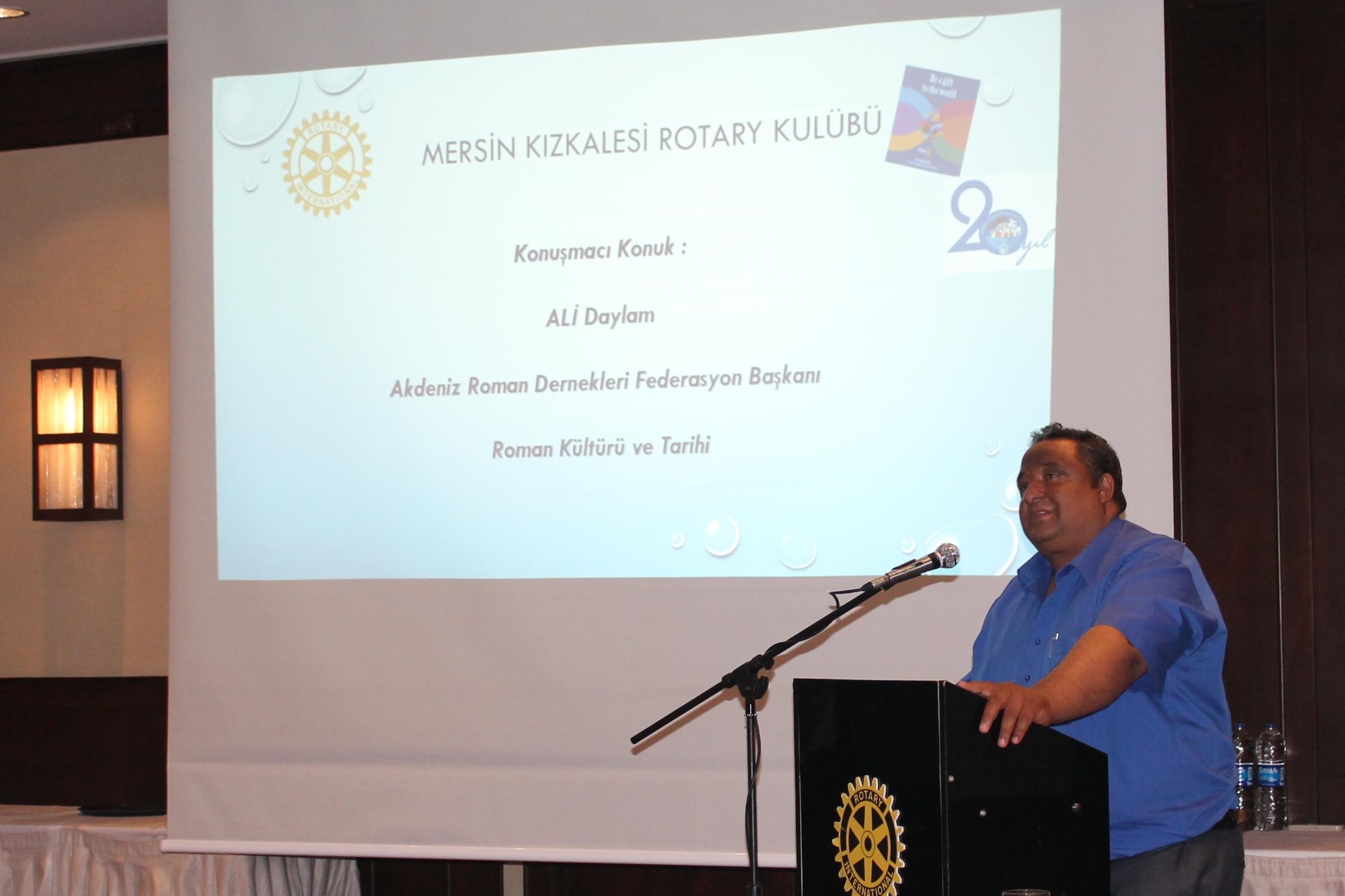 Başkan Ali Daylam Kızkalesi Rotary Kulübüne Konuk Oldu