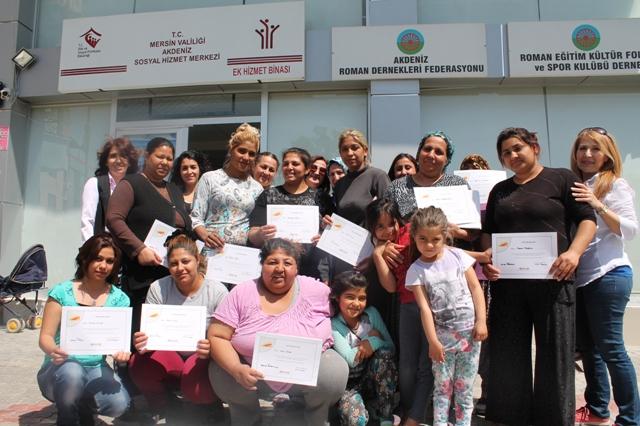 Açev Roman Kadınlarıyla Farkındalık Eğitimlerini Tamamladı